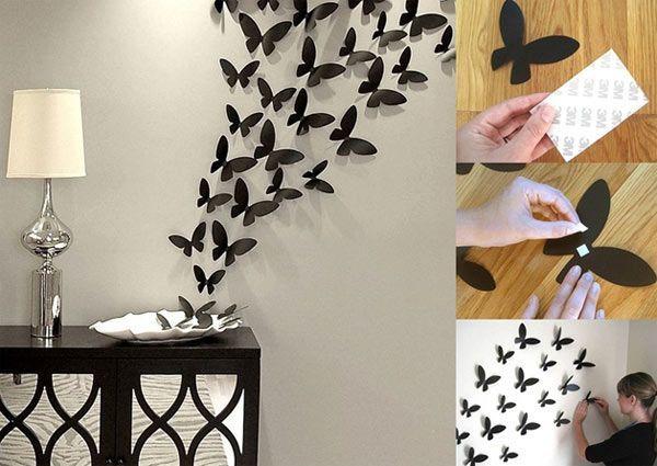 Kupu-kupu di tembok
