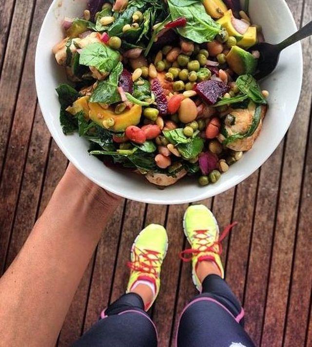 Lebih banyak makan sayuran dan makanan sehta