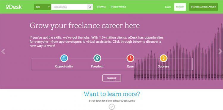 Berdiri sejak 2004, oDesk menjadi salah satu pioneer dalam situs khusus freelancer