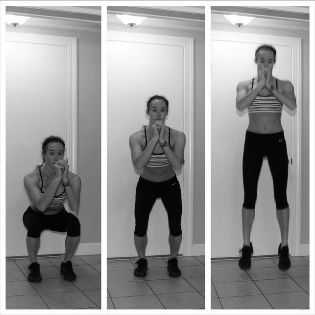 Squat jumps untuk otot paha yang kuat