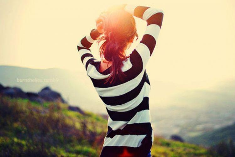 pilihlah sudut positif supaya bisa menikmati keindahan dunia