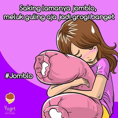 Namanya juga jomblo...