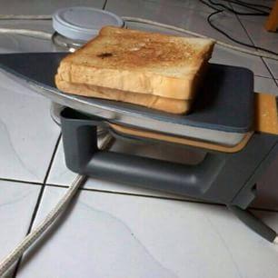 Roti bakar ala anak kos dengan setrika