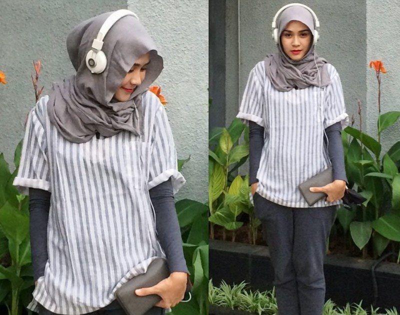 Tanpa Harus Melepaskan Jilbab 6 Gaya Berbusana Lengan Pendek Ini Tetap Bisa Kamu Terapkan