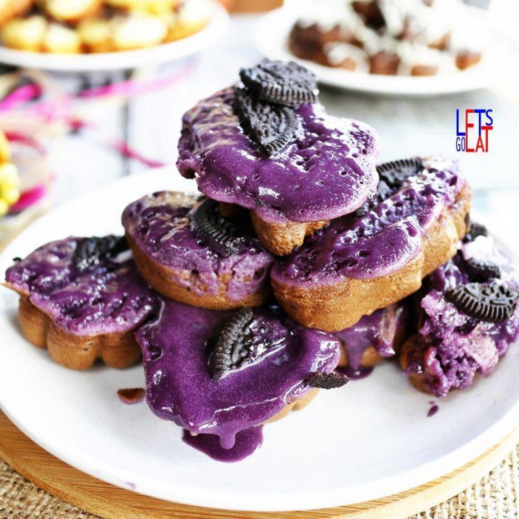 Taro itu semacam ubi, disandingkan begini jadi enak banget