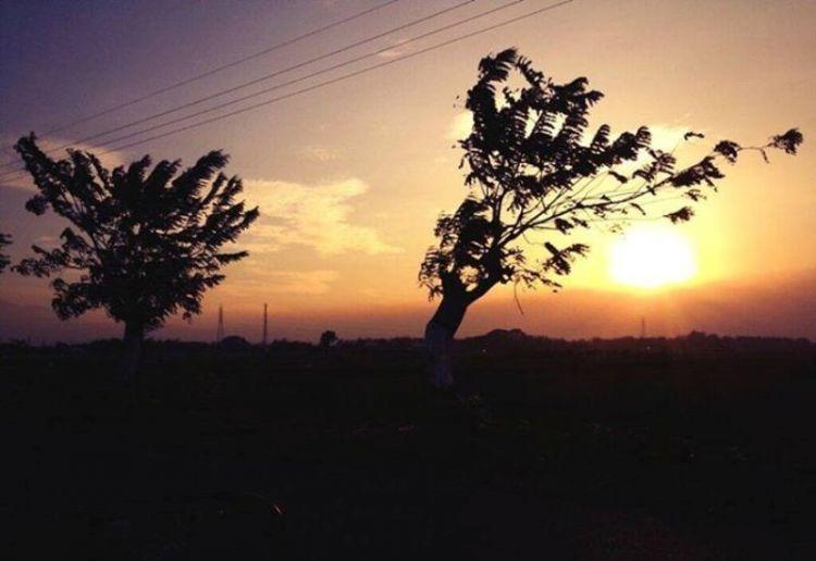Senja berangin di kota Nganjuk