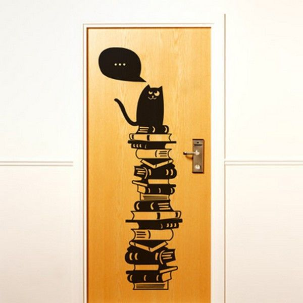 Dekorasi pintu rumah yang indah dari sticker