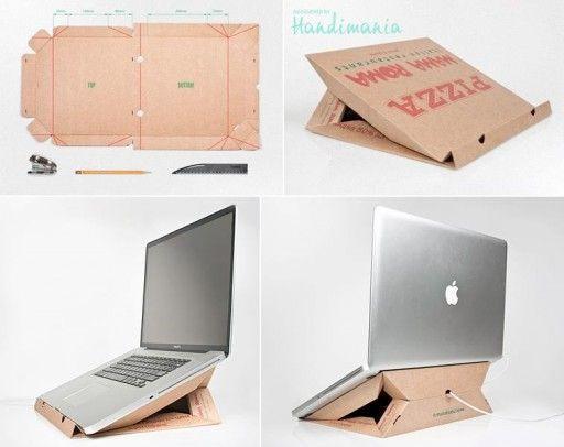 Manfaat kotak pizza untuk tempat laptop