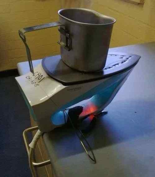 Masak air dengan setrika