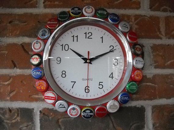Tutup botol untuk jam dinding