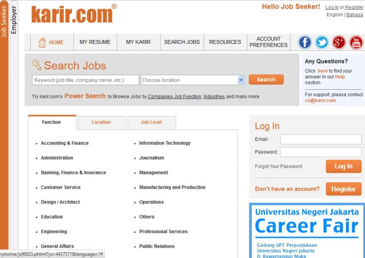 Situs untuk jobseeker