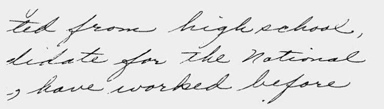 Tulisan yang miring ke kanan