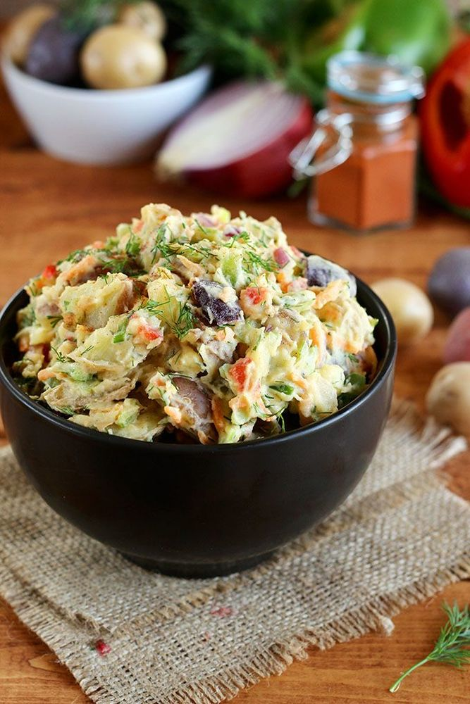 Singkirkan semua gorengan, ganti dengan potato salad yang segar