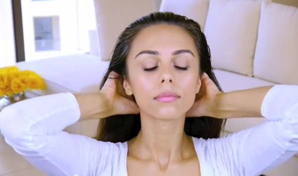 Gerakan creambath rambut kepala