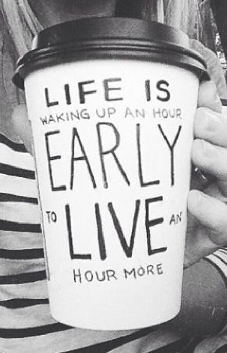 """Lebih """"hidup"""", dengan bangun pagi"""
