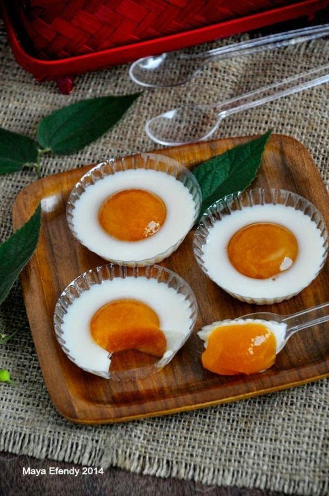 Pudding telur ceplok