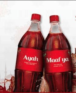 Kemasan minuman berisi pesan-pesan mulia