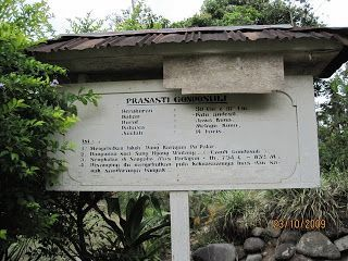 papan informasi prasasti Gondosuli