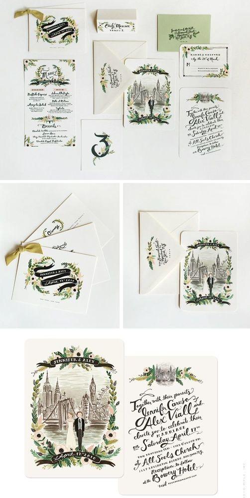 Undangan pernikahan sketsa yang unik