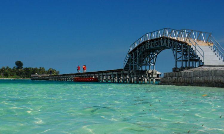 Jembatan cinta di Pulau Tidung
