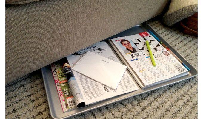 Nampan seukuran majalah agar muat banyak