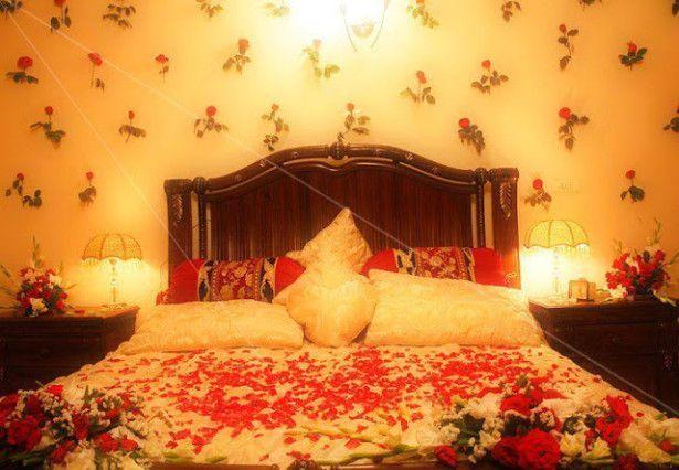 Dekorasi kamar pengantin indah dan romantis
