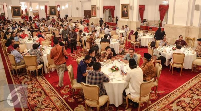 Lagi lebaran di Istana Negara