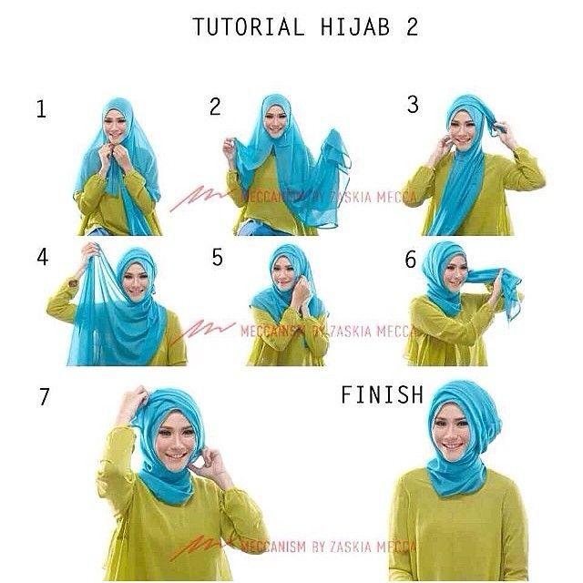 Tutorial hijab untuk kondangan dan lain-lain