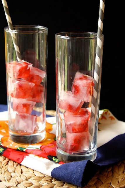 Resep bikin ice cube strawberry