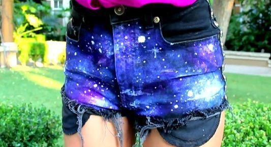 Galaxy Shorts, lucu ya. Daripada beli mahal mending buat sendiri