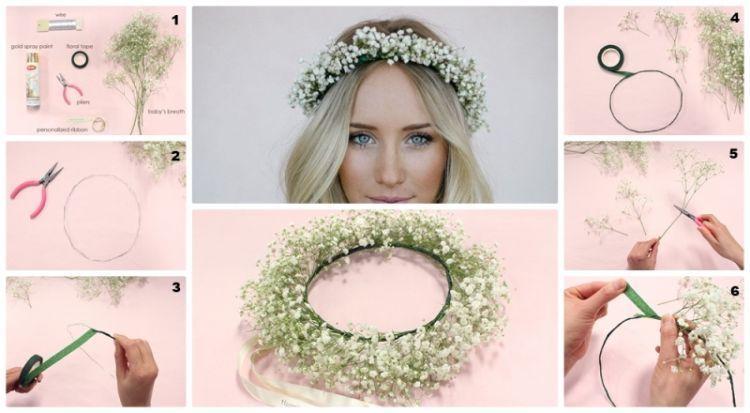 Cara membuat head band bunga untuk pernikahan