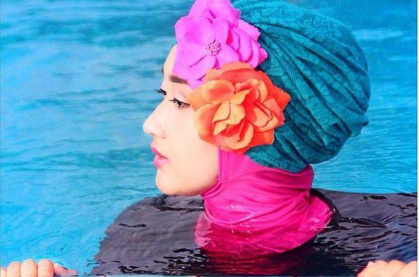 Pilih kerudung jenis turban instan