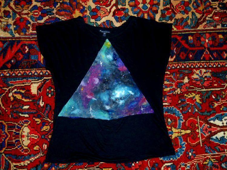bentuk segitiga pun jadi terlihat menarik dengan efek gakalsi