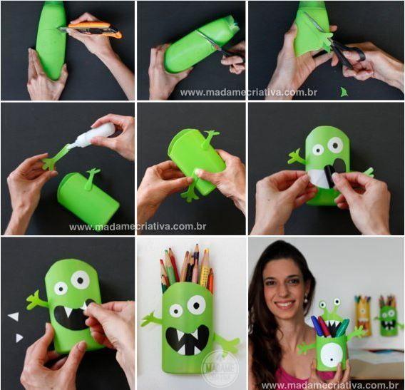 Langkah-langkah membuat monster lucu penuh manfaat ini