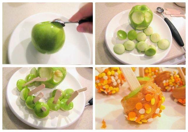 Resep camilan buah apel mini karamel