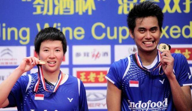 Tontowi Ahmad/Lilyana Natsir meraih gelar juara dunia 2013