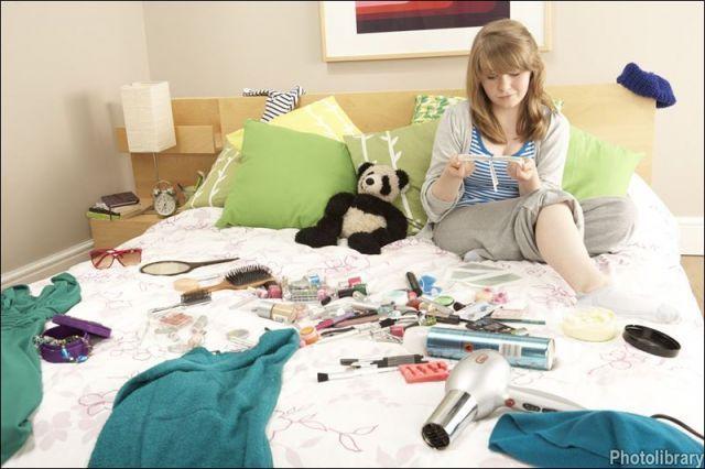 untidy girl