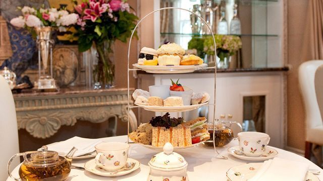 The famous traditional afternoon tea in England