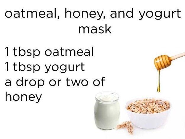Masker dari oatmeal, yoghurt, dan madu
