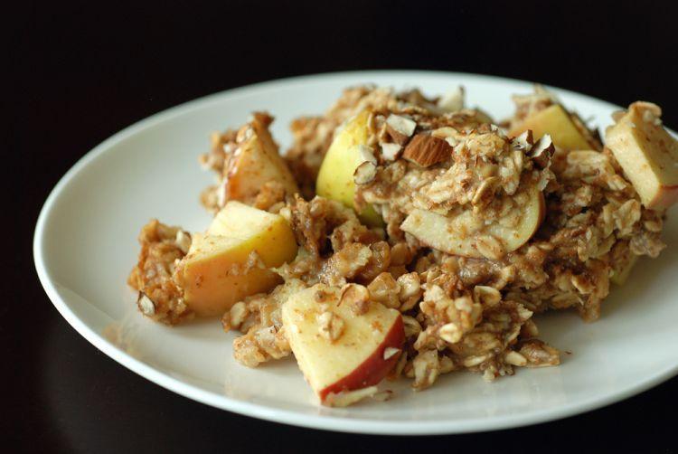 Apel dan pisang oatmeal