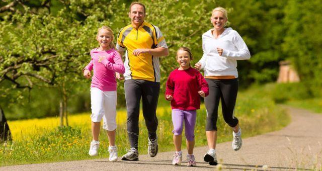 Jogging bersama keluarga