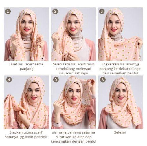 Tutorial jilbab pashmina gampang dan praktis