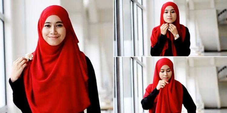 Tutorial jilbab syari menggunakan pashmina