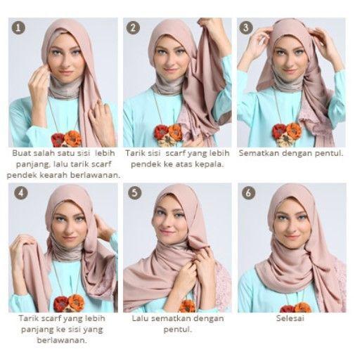 6 Tutorial Jilbab Pashmina Yang Bisa Kamu Coba Biar Gaya Jilbabmu Gak Biasa Biasa Saja
