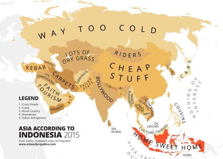 Asia according to Indonesia / Alphadesigner