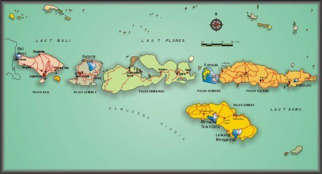 jarak pulau sumba dari bali