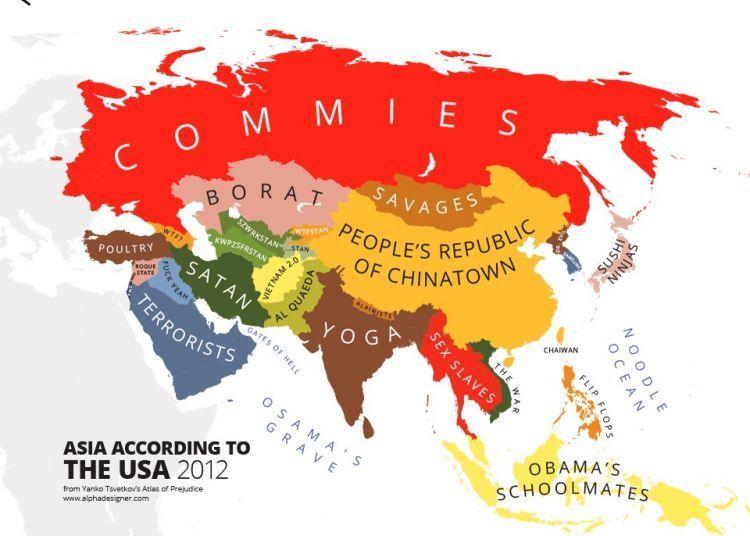Asia according to Americans / Alphadesigner