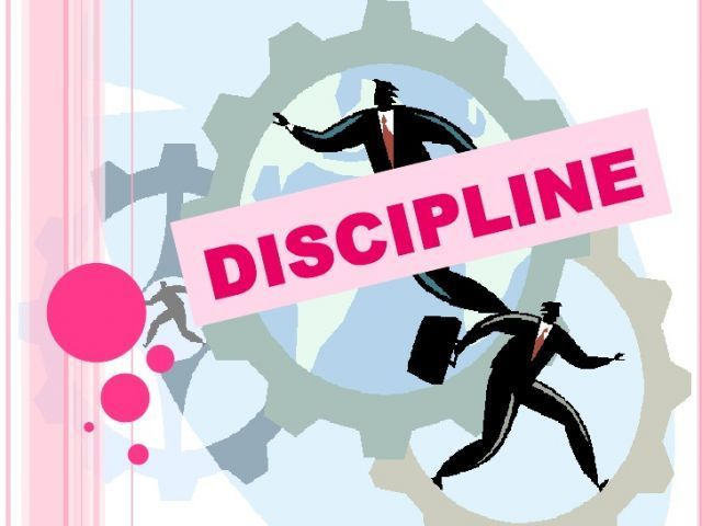 be disclipine