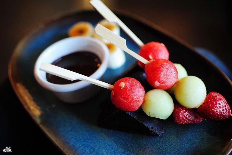 Chocolate fondue. Spark inside the party!