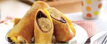 Roti gulung pisang coklat